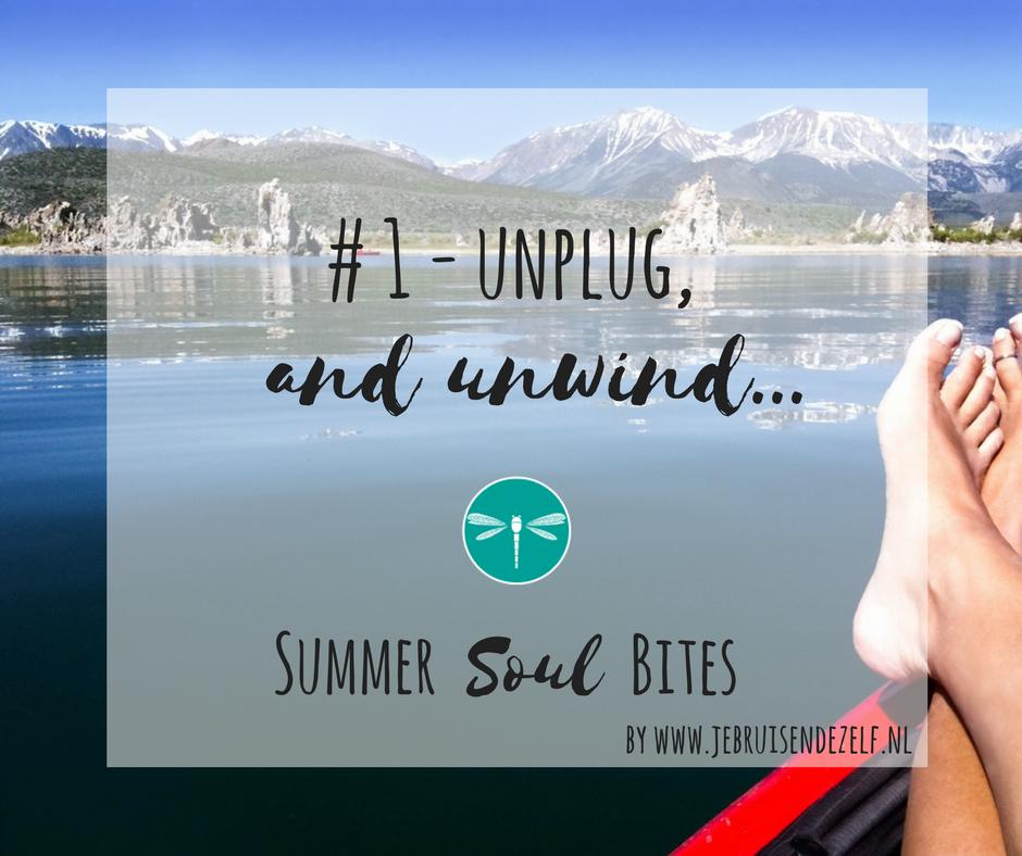 Yes, zomer! Heerlijke tijd om offline te gaan. En 'on life'! Ofwel: unplug and unwind...